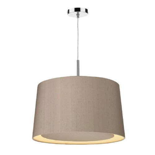 Hastings 2-Tone 50cm Pendant Chrome with Shade (choose colour) HAS5099 (Hand made, 10-14 day Del)